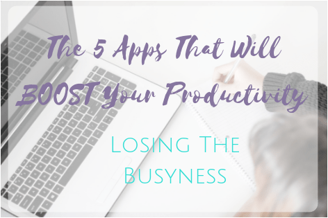 5 apps to boost your productivity