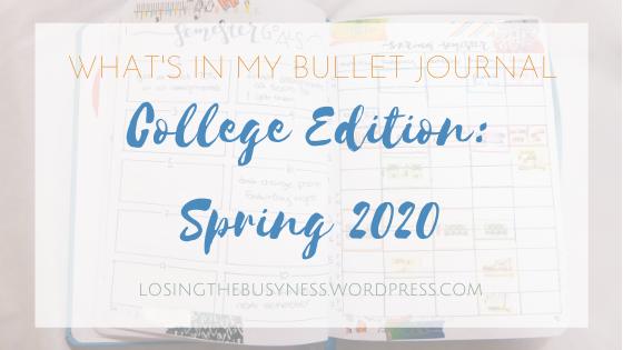 Bullet Journal Setup College Edition